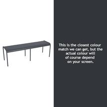 Luxembourg Backless Bench - Anthracite