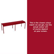 Luxembourg Backless Bench - Chilli