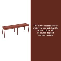 Luxembourg Backless Bench - Red Ochre