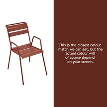 Monceau Armchair - Red Ochre