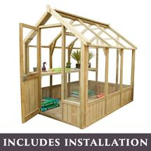 Vale Wooden Greenhouse 8 x 6ft