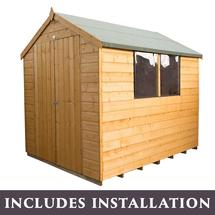 8x6 Double Door Storage Shed with Assembly