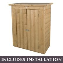 Shiplap Pent Roof Store with Assembly - Pressure Treated
