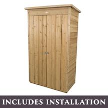 Overlap Pent Tall Garden Store with Assembly- Pressure Treated