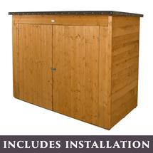 Pent Roofed Overlapped Large Outdoor Store Dip Treated - with Assembly