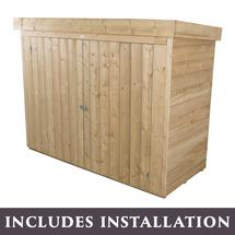 Pent Roofed Overlapped Large Outdoor Store - Pressure Treated with Assembly