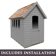 Retreat Shed 8x5 - Painted Pebble Grey