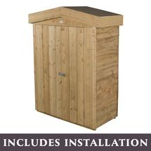 Traditional Roofed Garden Store with Assembly - Pressure Treated