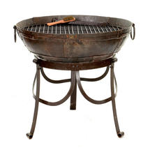 Kadai 60cm Firebowl Set with High and Low Stand