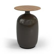Blow High Side Table Natural Teak Top - Coffee