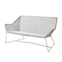 Breeze 2 Seat Lounge Sofa - White Grey