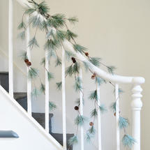 Frosted Trailing Pine Garland