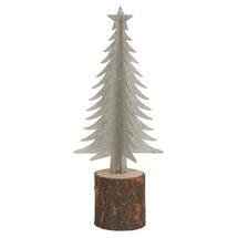 Silver Tree On Birch Log - Large