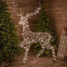 Wicker LED Standing Reindeer 1.9M