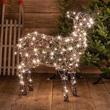 Wicker Standing LED Sheep - 140 LED