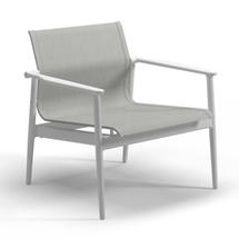 180 Stacking Lounge Chair - White / Seagull Sling