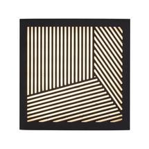 Maze Square Straight Lines Light - Black
