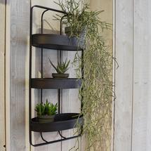 Triple Shelf Iron Wall Unit