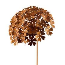 Rusted Hydrangea Flower - Large