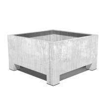 Galvanised Square Footed Planter  120x 120x 80