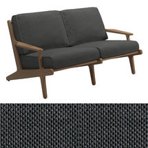 Bay 2 Seater Sofa - Anthracite Sling / Blend Coal Cushions