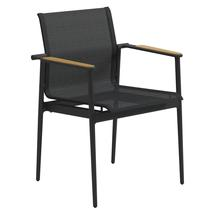 180 Stacking Chair with Teak Arms - Meteor / Anthracite Sling