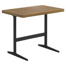 Grid Side Table - Natural Teak Top Meteor