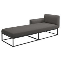 Maya Left / Right Daybed 211 x 86 Meteor- Granite