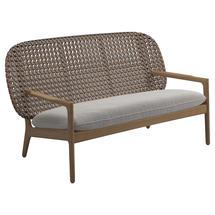 Kay Low Back Sofa Brindle Weave- Blend linen