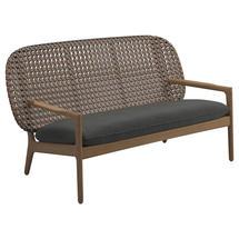 Kay Low Back Sofa Brindle Weave- Blend Coal