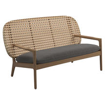 Kay Low Back Sofa Harvest Weave- Granite
