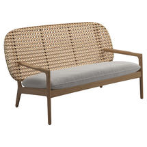 Kay Low Back Sofa Harvest Weave- Blend linen
