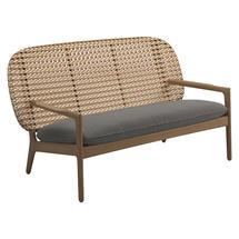 Kay Low Back Sofa Harvest Weave- Fife Rainy Grey