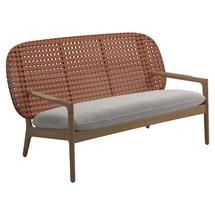 Kay Low Back Sofa Copper Weave- Blend linen