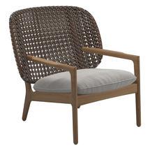 Kay Low Back Lounge Chair Brindle Weave- Blend linen