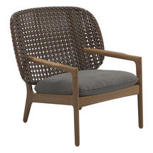 Kay Low Back Lounge Chair Brindle Weave- Fife Rainy Grey