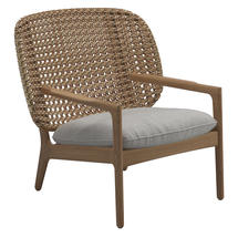 Kay Low Back Lounge Chair Harvest Weave- Seagull