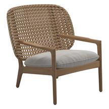 Kay Low Back Lounge Chair Harvest Weave- Blend linen