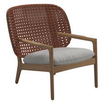 Kay Low Back Lounge Chair Copper Weave- Seagull