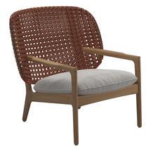 Kay Low Back Lounge Chair Copper Weave- Blend linen