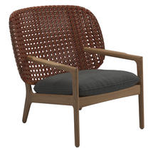 Kay Low Back Lounge Chair Copper Weave- Blend Coal
