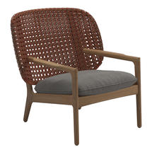 Kay Low Back Lounge Chair Copper Weave- Fife Rainy Grey