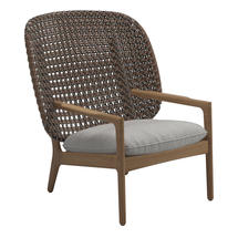 Kay High Back Lounge Chair Brindle Weave- Seagull