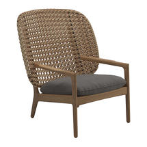 Kay High Back Lounge Chair Harvest Weave- Granite
