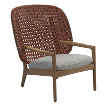 Kay High Back Lounge Chair Copper Weave- Seagull