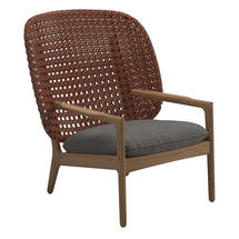 Kay High Back Lounge Chair Copper Weave- Granite