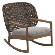 Kay Low Back Rocking Chair Brindle Weave- Blend linen