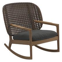 Kay Low Back Rocking Chair Brindle Weave- Blend Coal