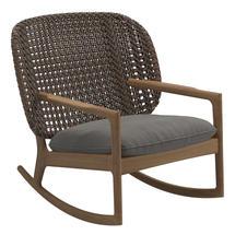 Kay Low Back Rocking Chair Brindle Weave- Fife Rainy Grey