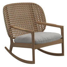 Kay Low Back Rocking Chair Harvest Weave- Seagull